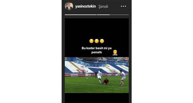 Yasin Öztekin'den penaltı tepkisi!