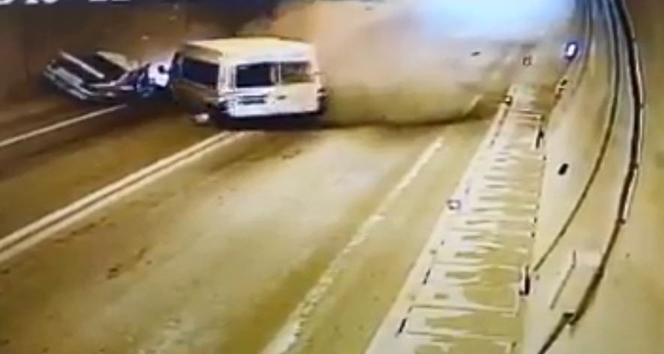 Artvin'de 1 kişinin öldüğü, 4 kişinin yaralandığı trafik kazasının görüntüleri ortaya çıktı
