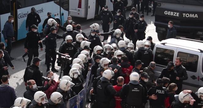 İşçilere polis müdahalesi: 95 gözaltı