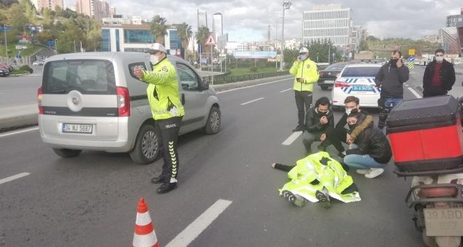 İstanbul'da trafik polisinden yaralı genç kıza insanlık örneği