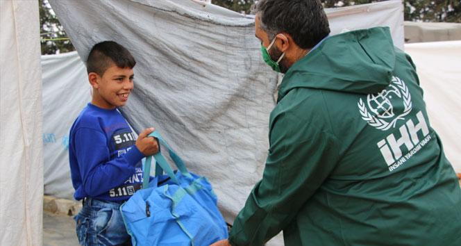 Afrin'de 560 çocuğa kışlık kıyafet desteği
