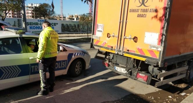 Samsun'da 3 kamyonun karıştığı zincirleme kaza: 2 yaralı
