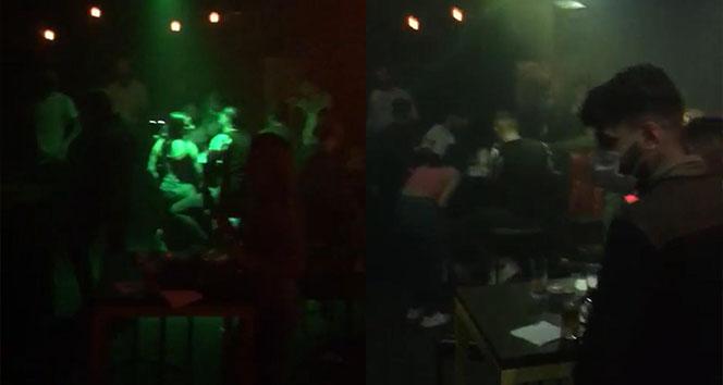 Beyoğlu'nda tedbirleri hiçe sayan kaçak gece kulübüne korona baskını