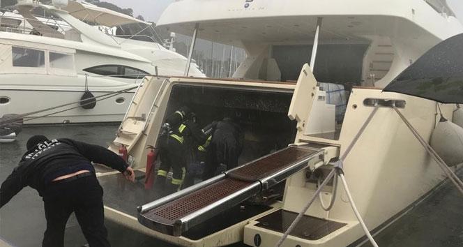 Lüks teknede yangın