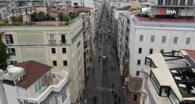 İstiklal Caddesi'ne 7 bin kişi sınırlaması resmen başladı