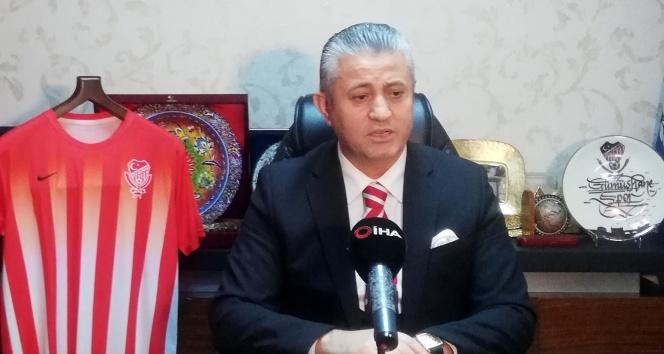 """Gümüşhanespor Başkanı Vahit Olgun: """"Gümüşhanespor'u güzel günler bekliyor"""""""