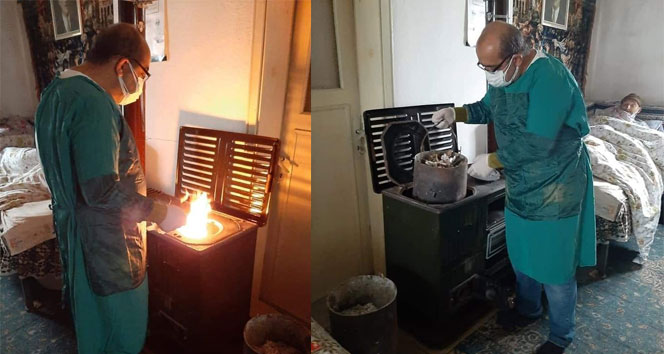 Sağlık memurundan insanın içini ısıtan hareket