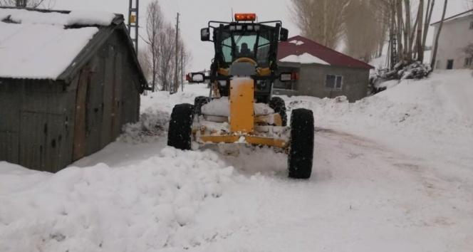 Bingöl'de kar 281 köy yolunu ulaşıma kapattı