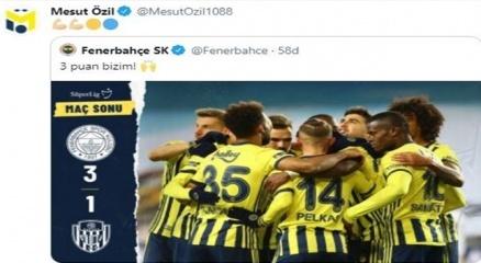 Mesut Özilden galibiyet paylaşımı