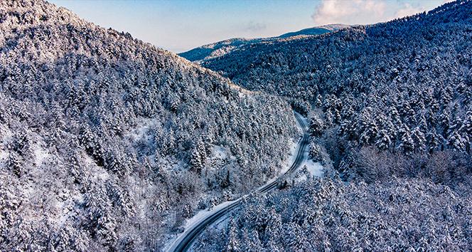 Kar yağışı dindi, güzellikleri kaldı