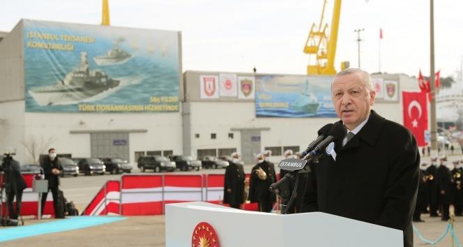 Cumhurbaşkanı Erdoğan: 'Kendi savaş gemisini yapan 10 ülke içindeyiz'