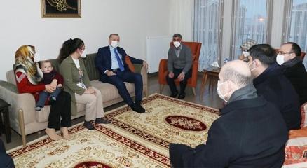 Cumhurbaşkanı Erdoğandan ev ziyareti