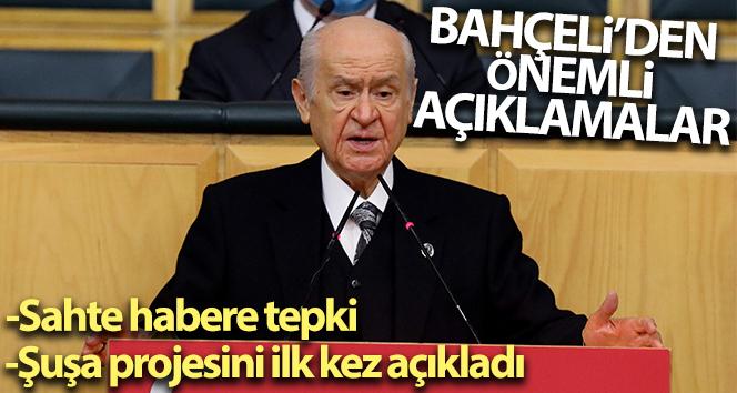 MHP Lideri Bahçeli'den Parodi haberi gerçek diye aktaran gazeteciye tepki