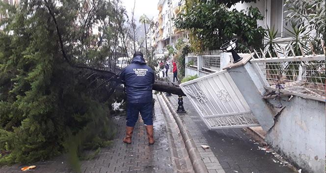 Marmaris'te fırtına sonrası çalışmalar sürüyor
