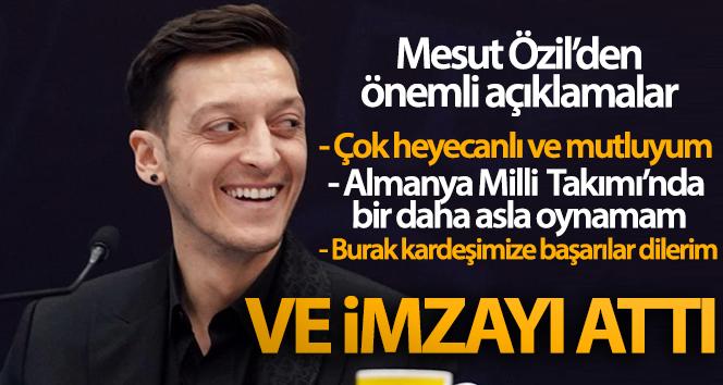 Mesut Özil Fenerbahçe'ye imzayı attı! Özil'den önemli açıklamalar
