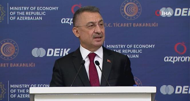 Cumhurbaşkanı Yardımcısı Oktay, Türkiye-Azerbaycan İş Forumu'na katıldı