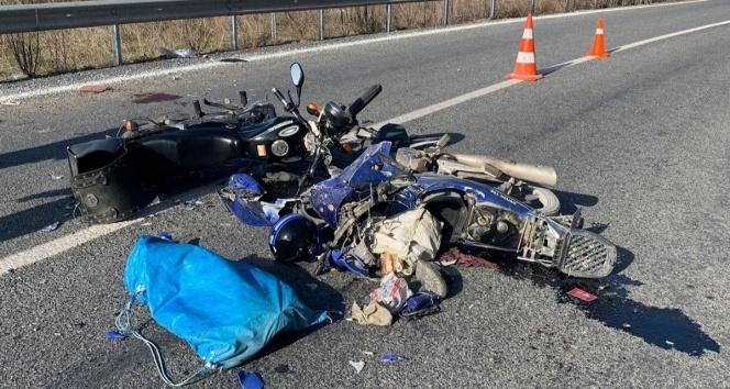Kazada ağır yaralanan motosiklet sürücüsü hayatını kaybetti!