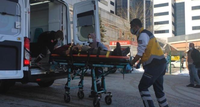 3 metre yüksekten beton zemine düşen inşaat işçisi yaralandı