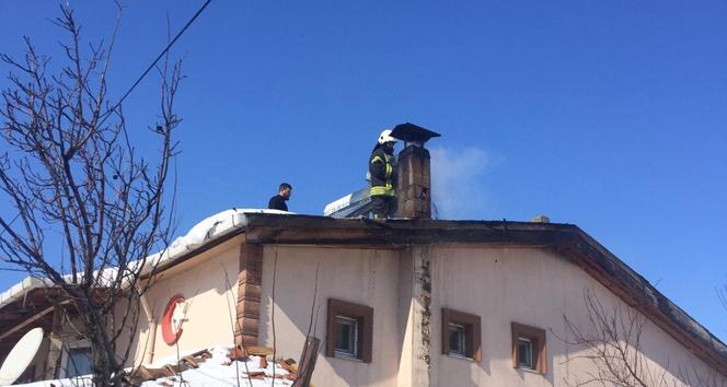 Amasya'da baca yangını korkuttu