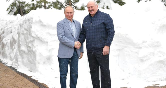 Rusya Devlet Başkanı Putin, Belarus Devlet Başkanı Lukaşenko ile bir araya geldi