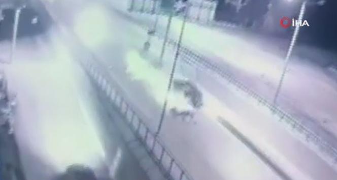 Dehşet veren kaza kameraya böyle yansıdı