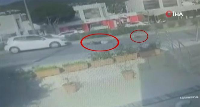 Anne ve çocuğu metrelerce sürüklendi, o anlar güvenlik kamerasına yansıdı