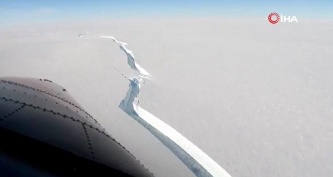 Antarktika'da bin 270 kilometrekarelik buz kütlesi koptu