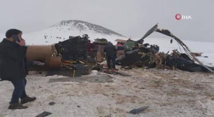 Bitliste 11 askerin şehit olduğu helikopter görüntülendi