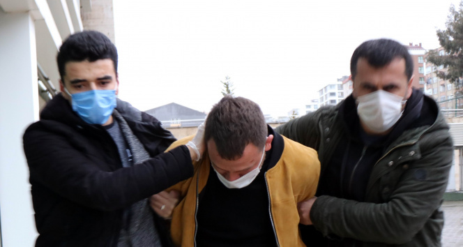 Kızının yanında eski eşini döven şahıs adliyeye çıkartıldı
