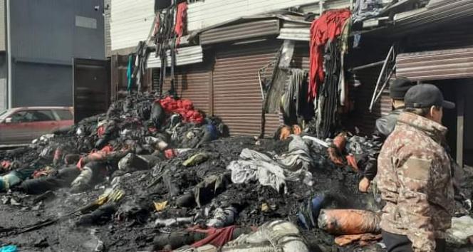 Kırgızistan'da pazar yerinde çıkan yangın 17 saat sonra söndürüldü