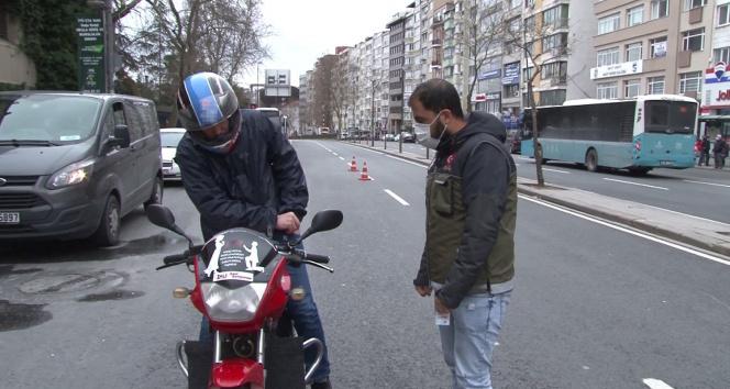 Şişli'de kısıtlamayı ihlal eden motosikletliden 'İzin belgem hazırlanmadı' bahanesi
