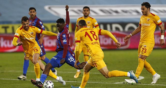 Süper Lig: Trabzonspor: 1 - 1 Hes Kablo Kayserispor (MAÇ SONUCU)