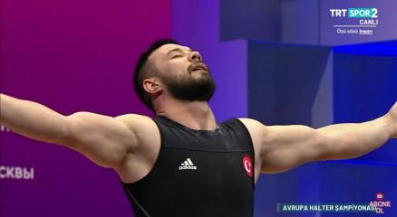 Daniyar Ismailov, Avrupa Halter Şampiyonasında altın madalyayı rekorla kazandı