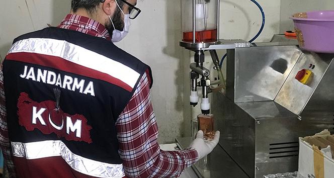 Jandarmadan sahte parfüm üretim tesisine operasyon