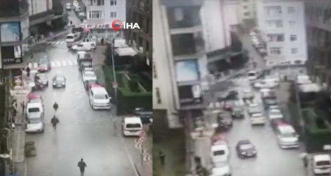 Eyüpsultan'da silahlı çatışma anı kamerada