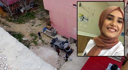Otomobiliyle 30 metreden bahçeye uçan genç hemşire kurtarılamadı