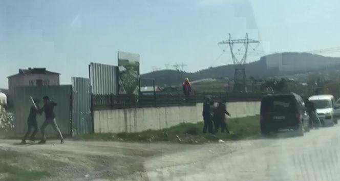 Sultanbeyli'de şantiyede sopalı yumruklu kavga