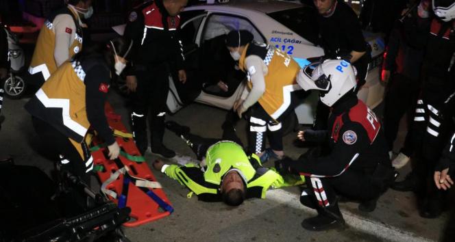Uygulamadan kaçan otomobili kovalayan polis aracı kaza yaptı: 2 yaralı
