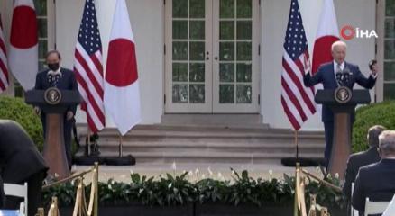 ABD Başkanı Joe Biden ve Japonya Başbakanı Yoshihide Suga bugün Beyaz Sarayda bir araya geldi