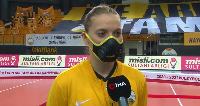 VakıfBank'ın milli voleybolcusu Cansu Özbay: 'Şampiyonlar Ligi kupasını alacağız'