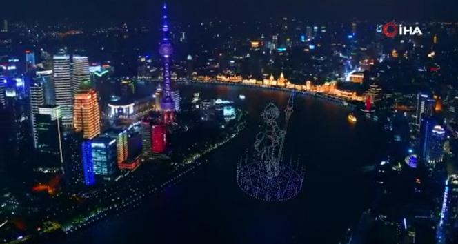Çin'de bin 500'e yakın drone izleyenlere görsel şölen yaşattı