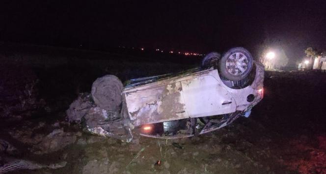 Kontrolden çıkan otomobil tarlaya uçtu: 1 yaralı!