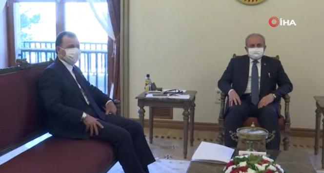 TBMM Başkanı Mustafa Şentop, Anayasa Mahkemesi Başkanı Zühtü Arslan ile görüştü