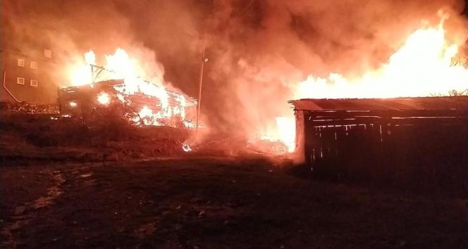 Kastamonu'da geceyi alevler aydınlattı: 2 ev, 3 ahır küle döndü