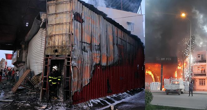 Çelik kapı, PVC kapı ve pencere üretilen atölye yangında kül oldu