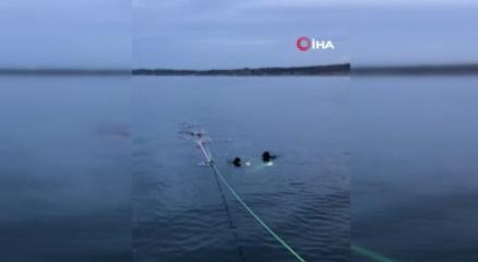Çatalcada batan teknedeki şahsı arama çalışmaları devam ediyor