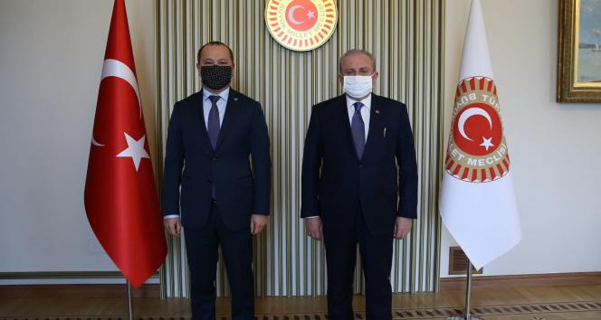 TBMM Başkanı Şentop, TÜRKPA Genel Sekreteri Mamayusupov'u kabul etti