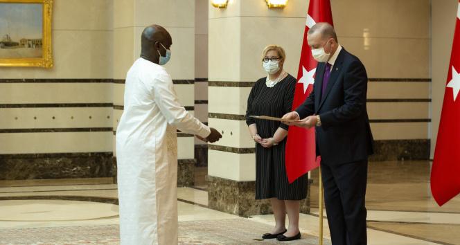 Cumhurbaşkanı Erdoğan, Gine Bissau Büyükelçisini kabul etti