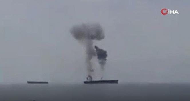 Suriye'de petrol tankerinde yangın