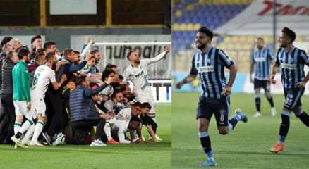 Adana Demirspor ve GZT Giresunspor Süper Lige yükseldi!